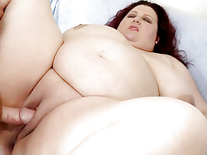 Big boobed fatso Stazi suck and pound
