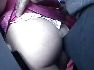 Kinky hidden cam fondles a busty blonde during the bus ride