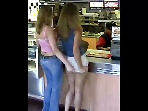 Teen Upskirt Flashing Her Naked Ass in Public(Moment Repeat)
