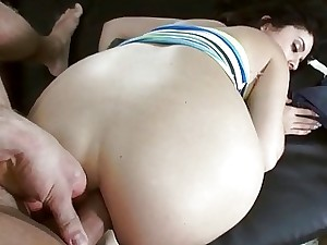 Ample titties fledgling very first time buttfuck fuck-fest