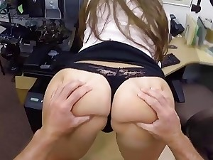 I fucked her rock-hard on the desk and she enjoyed it