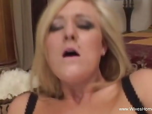Horny Wife Strokes With Big Faux-cock