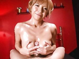 Oiled Up Teen Sumire Matsu Sucks Dick In POV