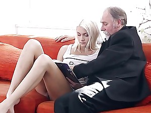 Tanya winded unconnected with burnish apply elderly mans lustful vitality